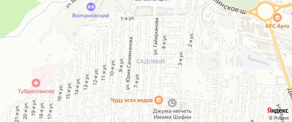 6-я улица на карте Садового поселка с номерами домов
