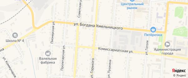 Улица Горького на карте Алатыря с номерами домов