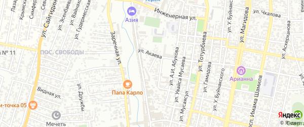 Береговая улица на карте Хасавюрта с номерами домов