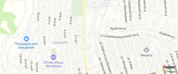 Кандаураульская улица 16-й проезд на карте Хасавюрта с номерами домов