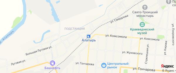 СТ Кооператор на карте Алатыря с номерами домов
