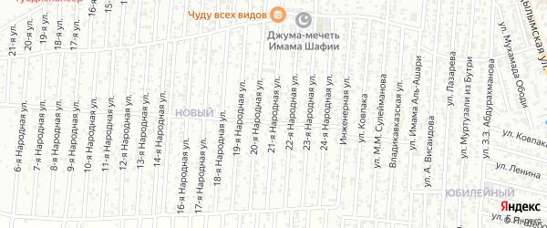 21-я улица на карте Нового поселка с номерами домов