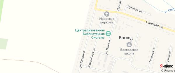 Улица Гагарина на карте поселка Восхода с номерами домов