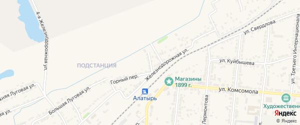 Кривоколенный переулок на карте Алатыря с номерами домов