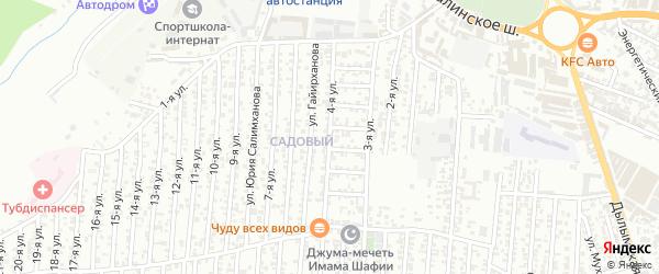4-я улица на карте Олимпийского микрорайона с номерами домов