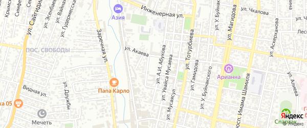 Площадь Батырмурзаева на карте Хасавюрта с номерами домов