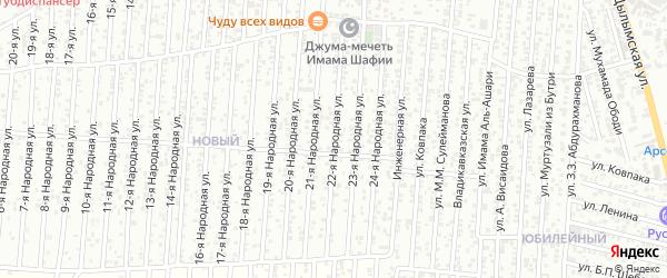 22-я улица на карте Нового поселка с номерами домов