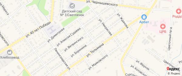 Улица Дзержинского на карте Алатыря с номерами домов