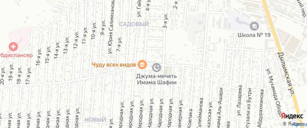 Грозненский 9-й проезд на карте Хасавюрта с номерами домов
