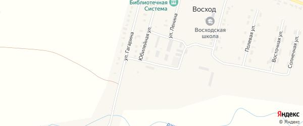 Молодежная улица на карте поселка Восхода с номерами домов