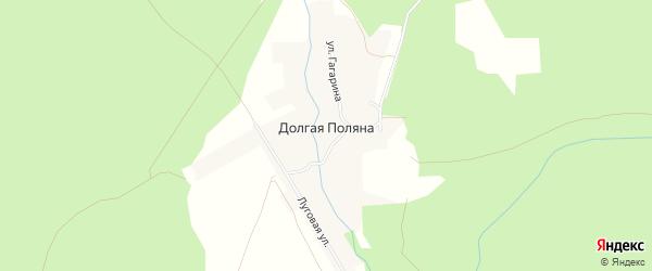 Карта поселка Долгой Поляны в Чувашии с улицами и номерами домов