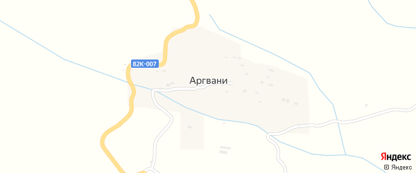 Улица Шахида Газимагомеда на карте села Аргвани с номерами домов