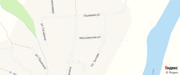Московская улица на карте села Явлеи с номерами домов