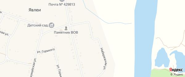 Набережная улица на карте села Явлеи с номерами домов