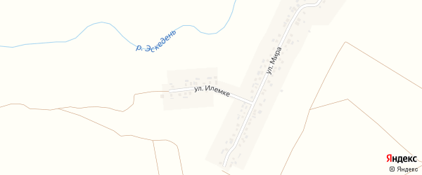 Улица Илемке на карте деревни Пояндайкино с номерами домов
