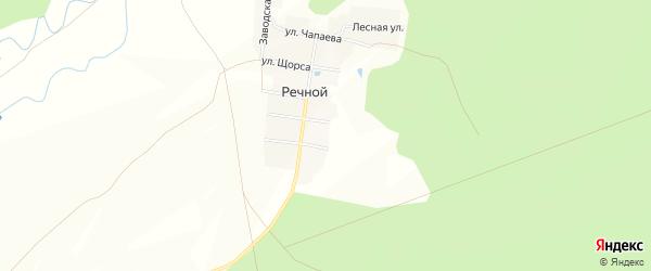 Карта Речного поселка в Чувашии с улицами и номерами домов