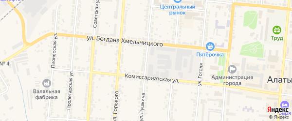 Улица Пушкина на карте Алатыря с номерами домов
