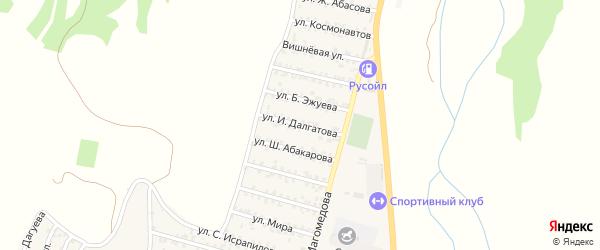 30-я линия на карте микрорайона Кемпинга с номерами домов