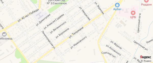 Улица Тельмана на карте Алатыря с номерами домов