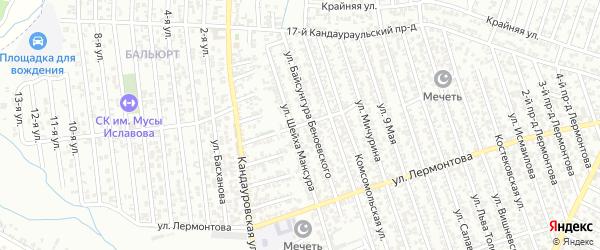 Бульварная улица на карте Хасавюрта с номерами домов