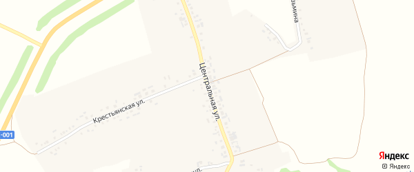 Центральная улица на карте деревни Торханы с номерами домов