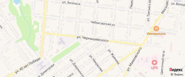 Улица Чернышевского на карте Алатыря с номерами домов