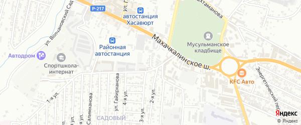 Махачкалинское шоссе 1-й проезд на карте Хасавюрта с номерами домов
