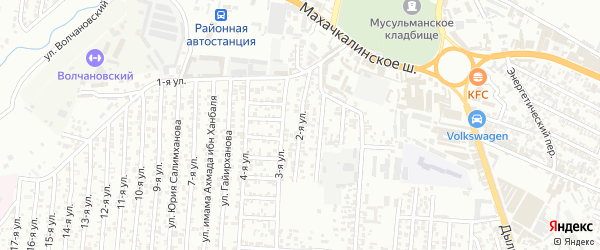 2-я улица на карте поселка Ветеранова с номерами домов