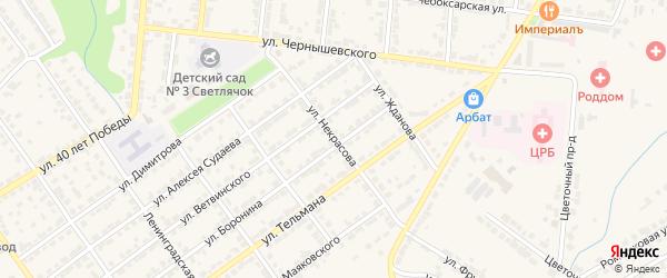 Улица Некрасова на карте Алатыря с номерами домов