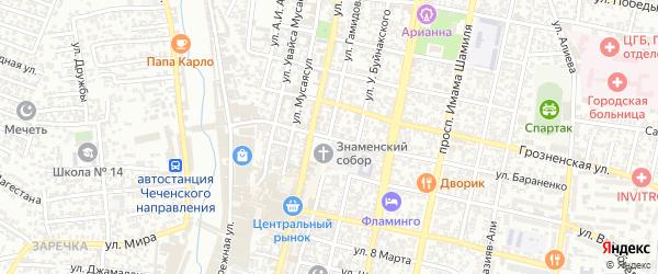 Улица Кирова С.М. на карте Хасавюрта с номерами домов