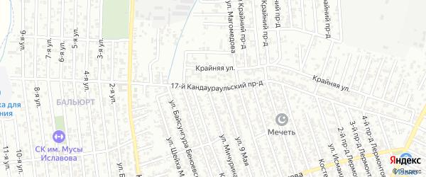 Кандаураульская улица 17-й проезд на карте Хасавюрта с номерами домов