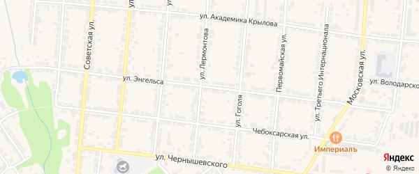 Улица Энгельса на карте Алатыря с номерами домов