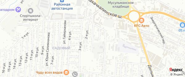 Аркабашская улица 1-й проезд на карте Хасавюрта с номерами домов