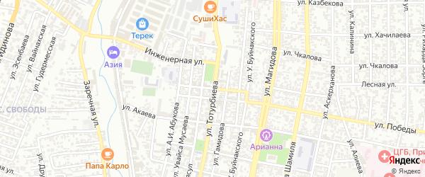 Первомайская улица на карте Хасавюрта с номерами домов