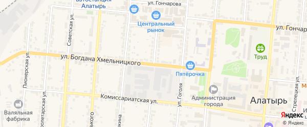 Улица Лермонтова на карте Алатыря с номерами домов