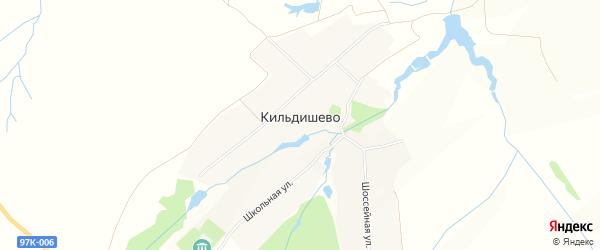 Карта деревни Кильдишево в Чувашии с улицами и номерами домов