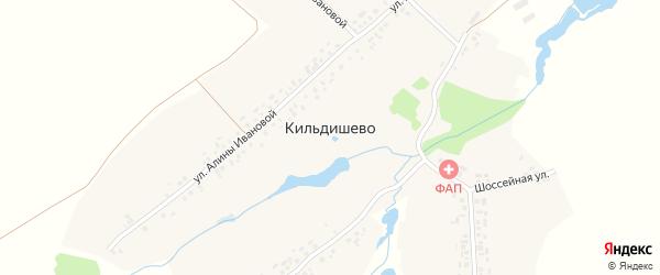 Шоссейная улица на карте деревни Кильдишево с номерами домов