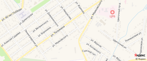 Улица Маяковского на карте Алатыря с номерами домов
