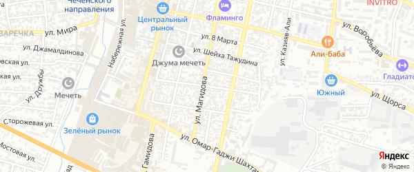 Андрейаульская улица на карте Хасавюрта с номерами домов