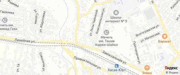 Вишневый переулок на карте Хасавюрта с номерами домов