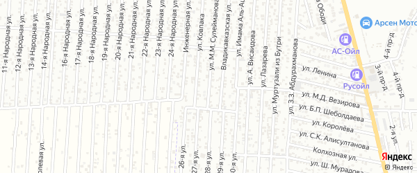 Улица Сулейманова М.М. на карте Юбилейного микрорайона с номерами домов