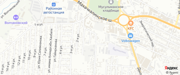 Махачкалинское шосее 2-й проезд на карте Хасавюрта с номерами домов