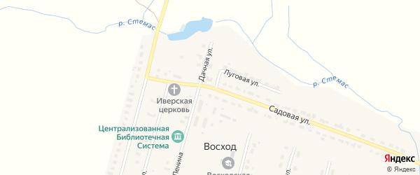 Садовая улица на карте поселка Восхода с номерами домов