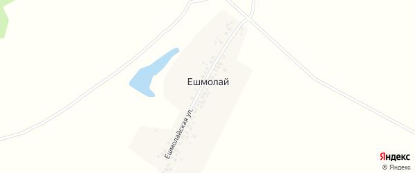 Ешмолайская улица на карте деревни Ешмолая с номерами домов