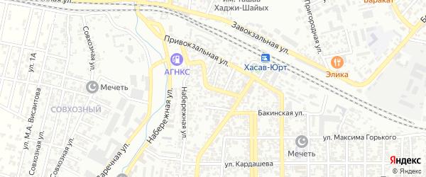 Дербентская улица на карте Хасавюрта с номерами домов