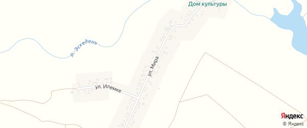 Улица Мира на карте деревни Пояндайкино с номерами домов