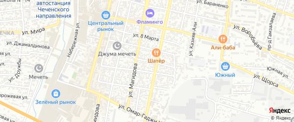 Улица С.Гайдара на карте Хасавюрта с номерами домов