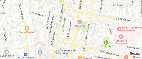 Улица Даибова на карте Хасавюрта с номерами домов