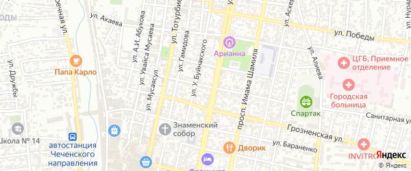 Улица И.Казака на карте Хасавюрта с номерами домов