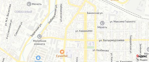 Улица Ломоносова на карте Хасавюрта с номерами домов